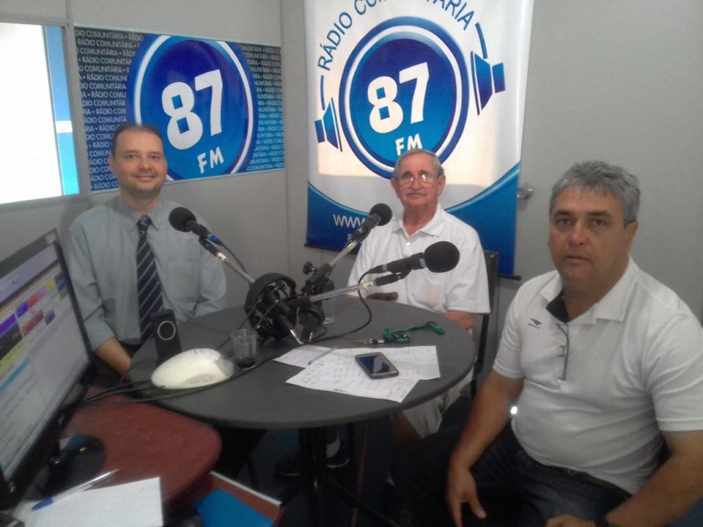 Dr. Cássio, José Carlos Joanelli e Donacio Silva