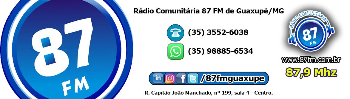 Rádio Comunitária 87 FM de Guaxupé/MG