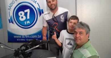 Prof.º Rodrigo Stampone, Henrique Stampone e Donacio Silva