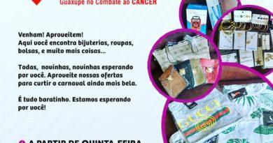 Bazar Beneficente Luz da Vida Guaxupé 22022020