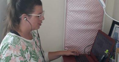 Carol Negrão apresentou o programa da sua casa (Foto: Arquivo pessoal)