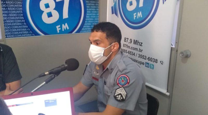 Sargento Dávila, Corpo de Bombeiros de Guaxupé