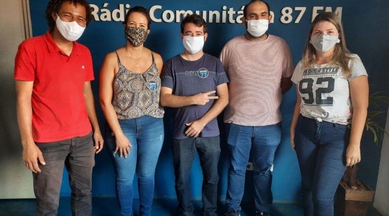 Leandro Vidal, Prof.ª Elisângela, Jorginho, Lucas Bachião e Carol Negrão