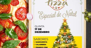 Pizza Especial de Natal na Casa do Caminho Bezerra de Menezes