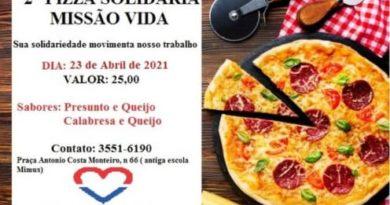 2ª Pizza Solidária Missão Vida