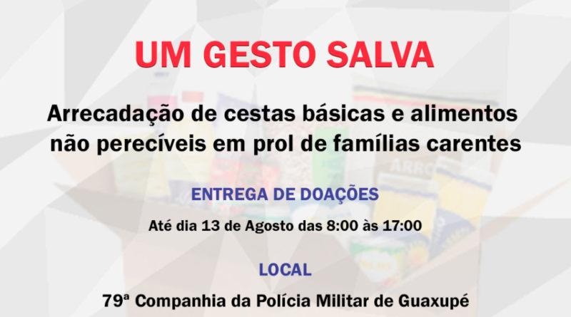 Campanha de Arrecadação de Alimentos do 79ª Companhia de Polícia Militar de Guaxupé